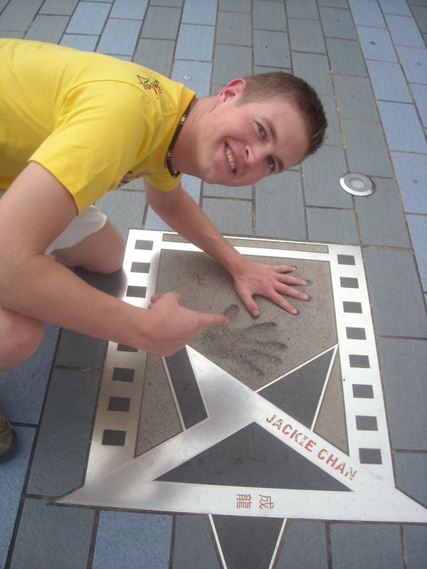 Jackie Chan! Avenue of the Stars!
