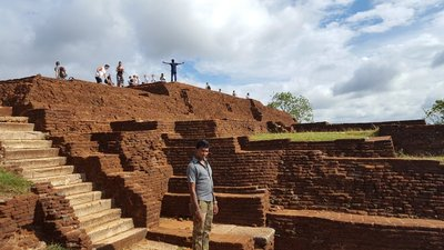 Sigiriya, Lion Rock. The guy in front is our guide, who thought I was taking a photo of him.