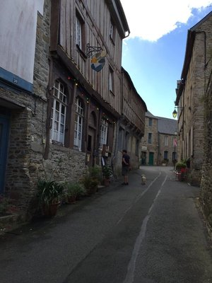 This place was uphill all the way.. Treguier