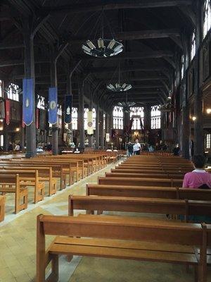 Inside church at Honfleur