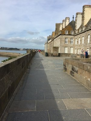 The walls of St Malo and other fortifications