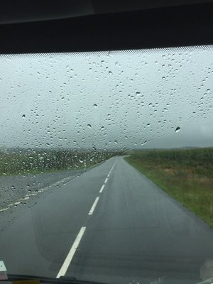 On the road again... in the rain