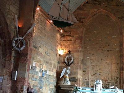 Inside the Church Cabaret Sur Mer. Very nautical