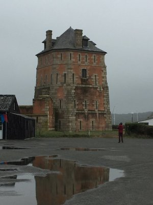 Tower in Cabaret Sur Mer that was built to keep the British out and succeeded