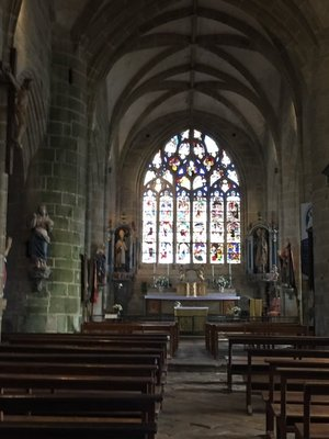Inside the church at Cabaret Sur Mer. It is called Notra Dame de Rocamadour... why I don't know