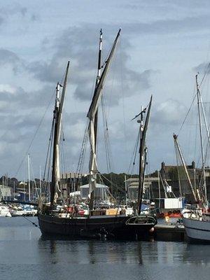 Sailing ships at Concarnea