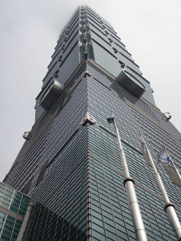 Taipei 101, 508m high and has the fastest elevator in the world