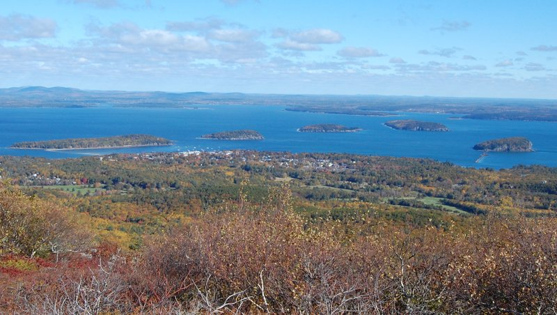 Bar Harbor with it's five islands.