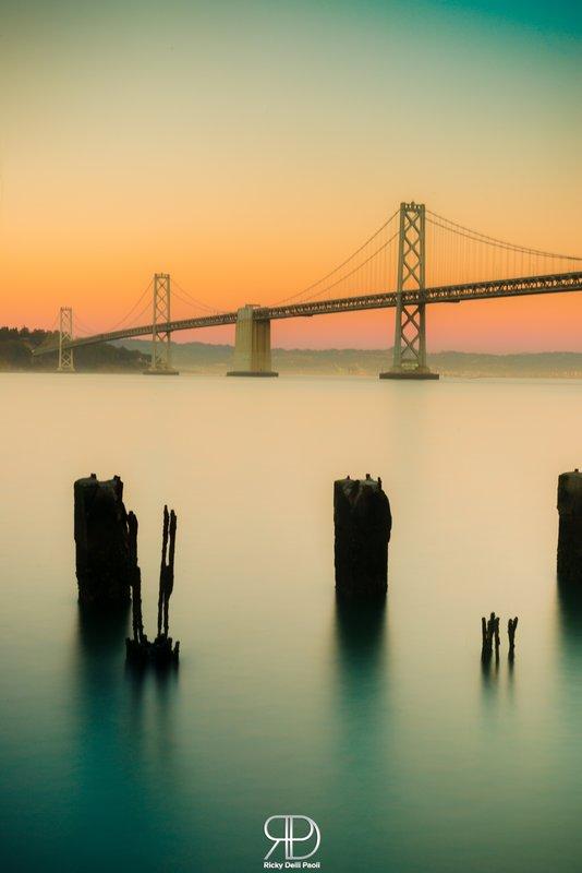 Bay Bridge during the Sunset