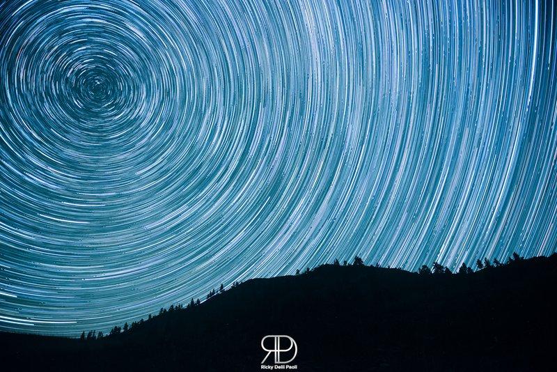 Salmon River Startrails last night - la scia delle stelle (200 p