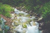 Long Exposure River In Aosta