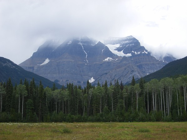 Mt Robson Provincial Park, Mt Robson in the clouds