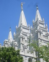 Mormon Temple Spires, Salt Lake City, Utah