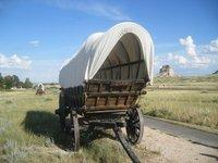 Wagons at Scotts Bluff National Monument, Nebraska