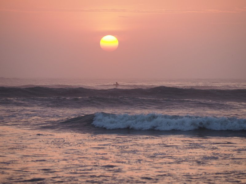 Sunset on Huanchaco beach