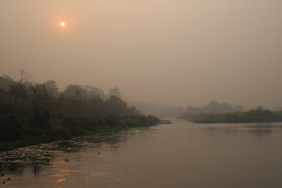 Sunrise at river 'Rapti'