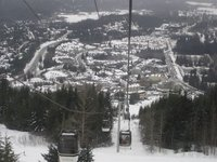 The view of Whistler village from the gondola