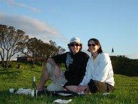 Picnic on Mt Eden, Auckland