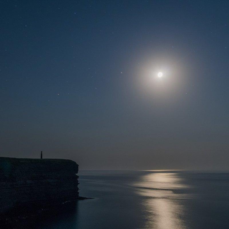 Moon on Black Sea