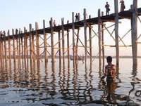 Fisherman at the U Bein Bridge