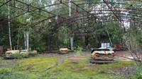Dodgems at a standstill in Pripyat