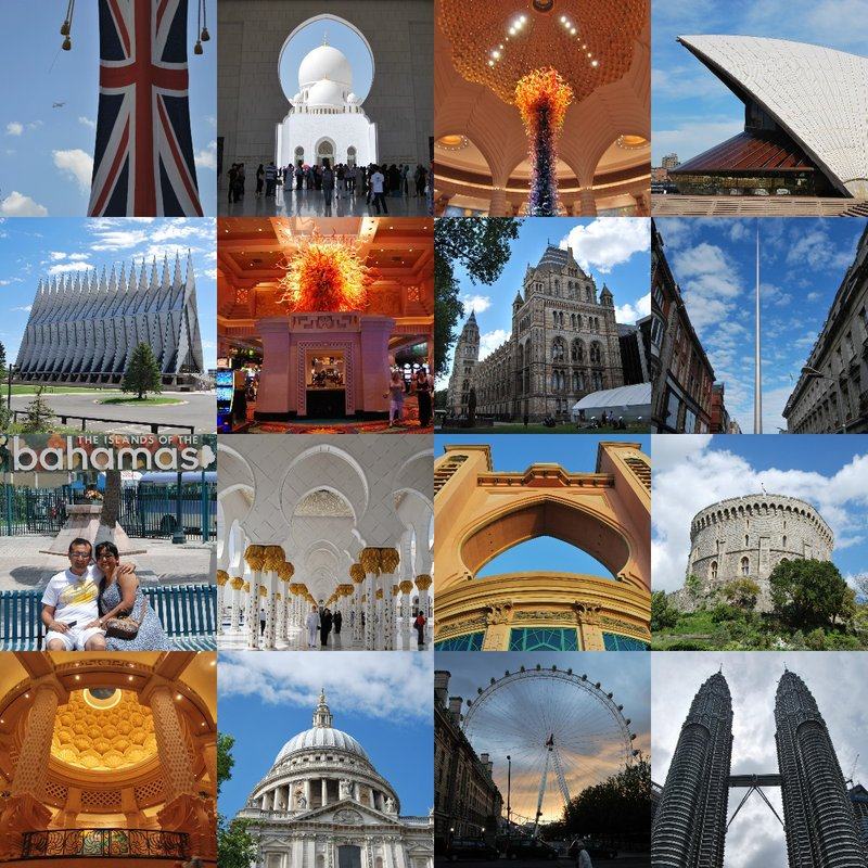 Collage of travel pictures