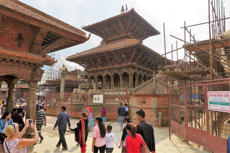 Arriving at Patan Durbar Square