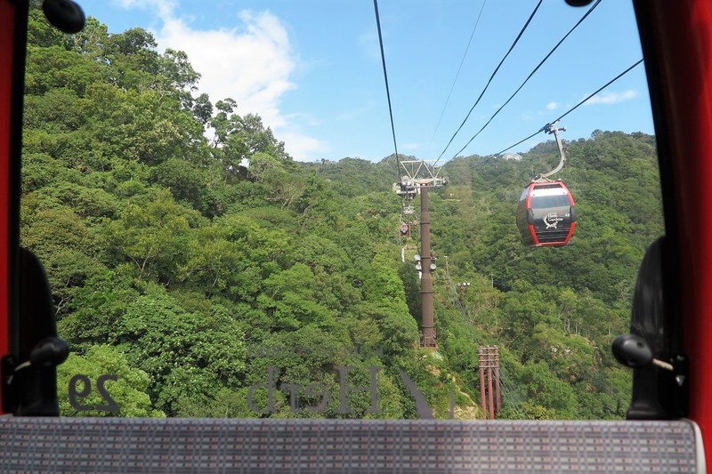 On the ropeway