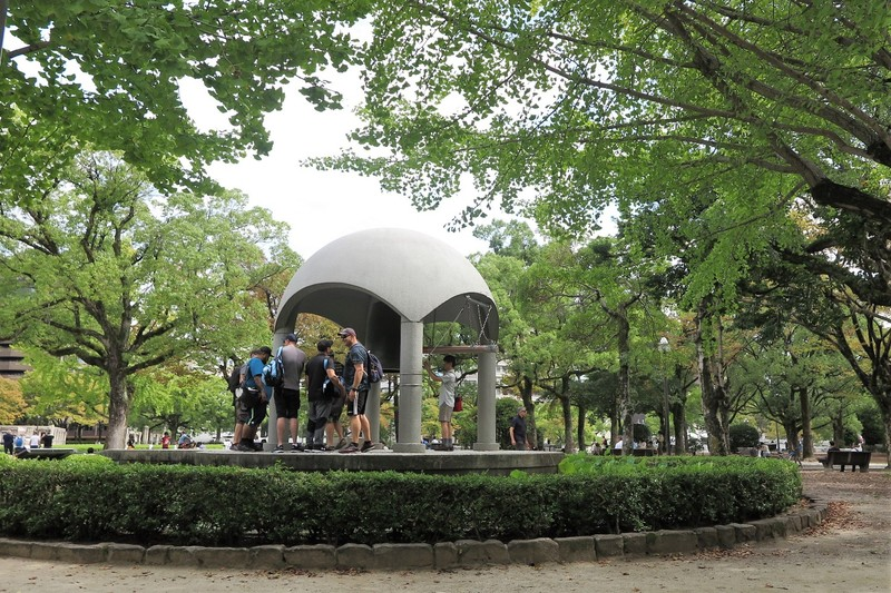 The dome shape of the Hiroshima Peace Bell was intended to represent the universe