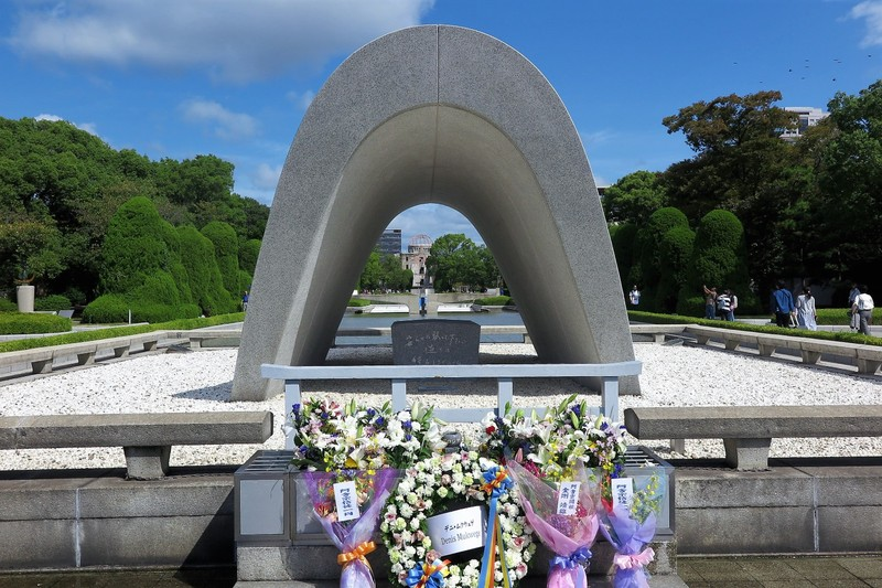 Memorial Cenotaph and Peace Flame