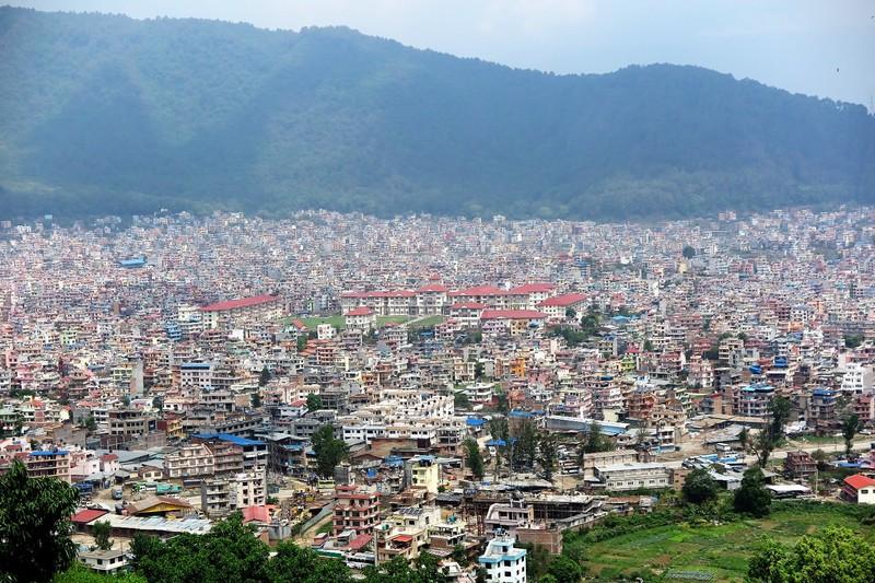 Looking down on Kathmandu