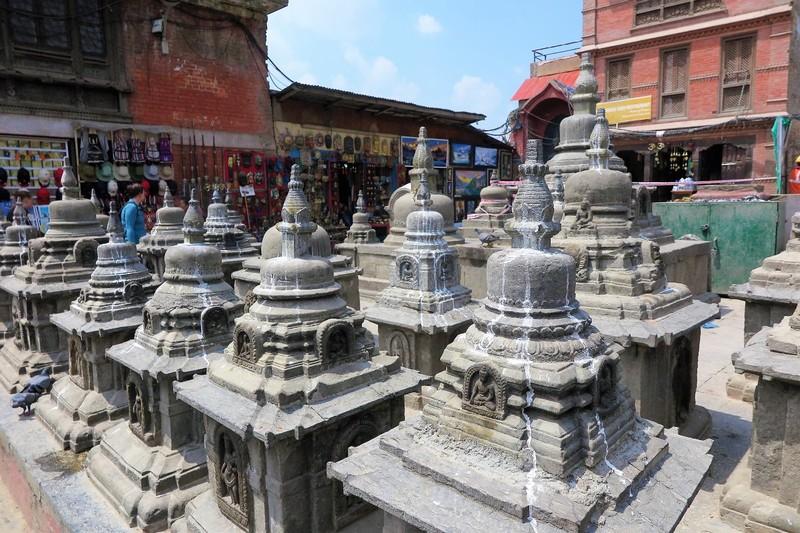 Chaityas, small shrines