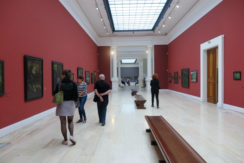 Inside the National Gallery in Tbilisi