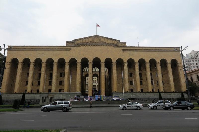 Parliament building on Rustaveli Avenue