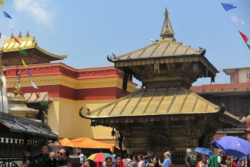 Pagoda shaped roof of Hariti Temple