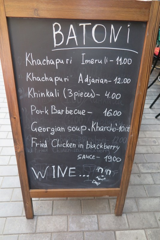 Menu, divide by 2 for Aust. prices