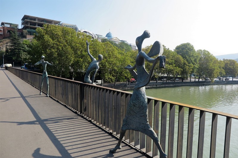 Sculptures on the bridge