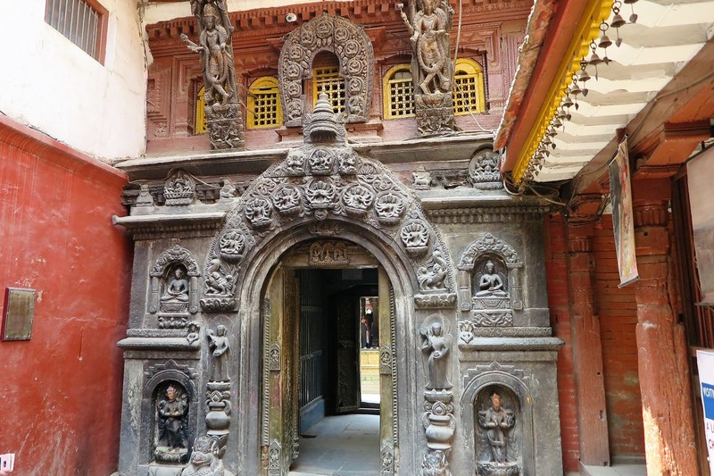 Beautiful entrance to temple
