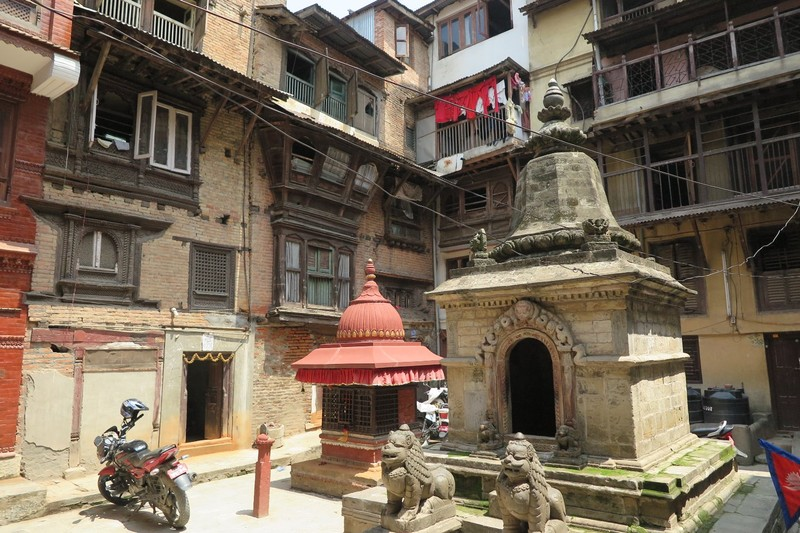Typical old style Newari housing