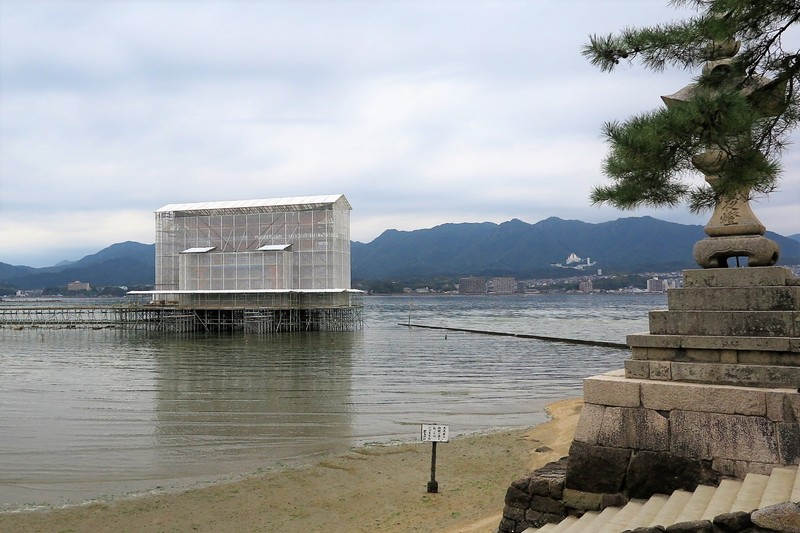 Closer to the Itsukushima Floating Torii Gate (Temporarily under Construction)
