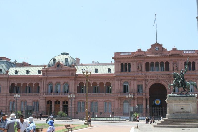 The Pink House waar de president werkt