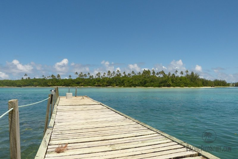jetty cook islands south pacific