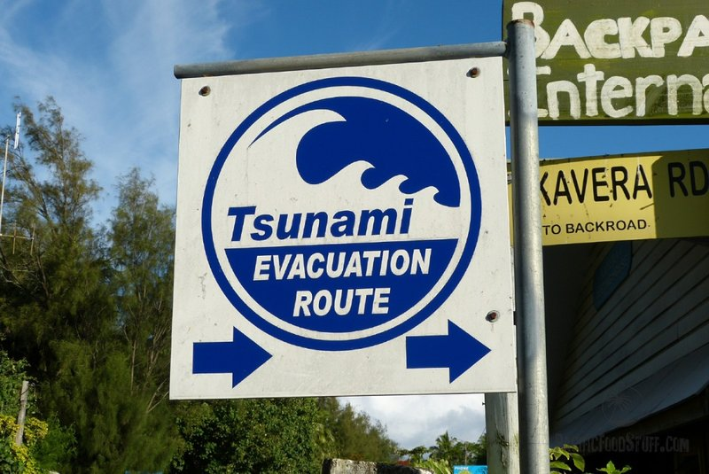 tsunami evacuation route cook islands