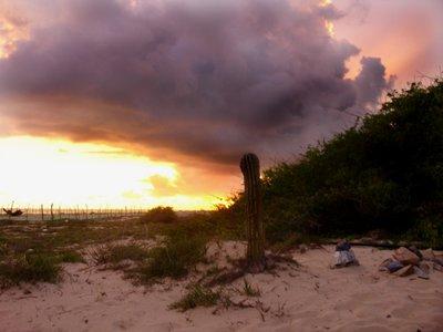 sunset at colola
