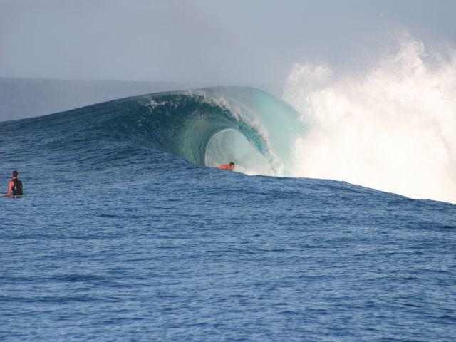 Jono getting barrelled on a big one