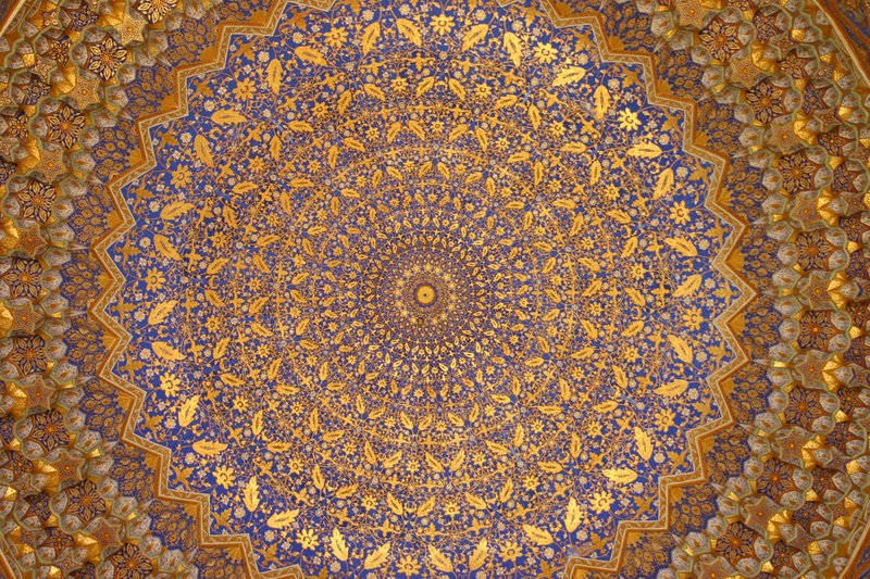 Ceiling of the Golden Mosque, The Registan