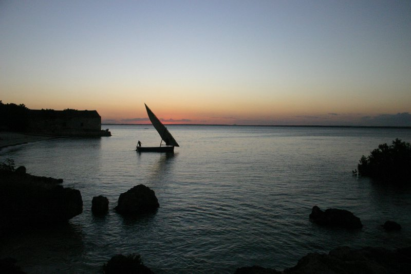 Dhow at dusk