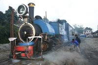 Tending to the toy train, Darjeeling