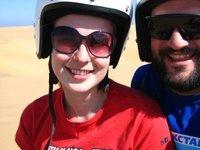 Quadbiking in the Namid desert