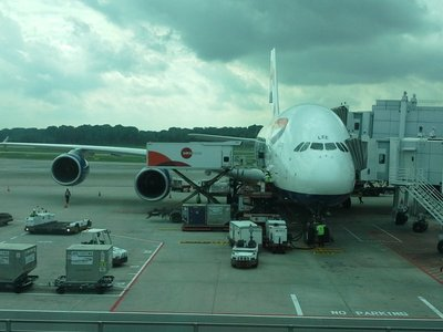 The A380 at Singapore - it's called Lee!